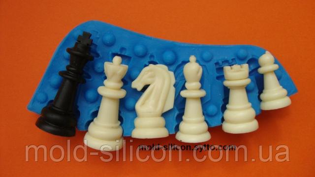 """Силиконовый молд 3Д """"Шахматные фигуры"""""""