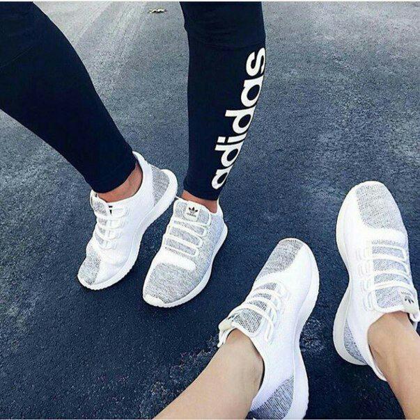 3c2506347 Мужские повседневные кроссовки в стиле adidas Tubular Shadow белые с серым