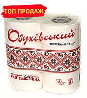 "Туалетная бумага 2-х слойная ""Обуховский"" 4шт/упаковка, белая"
