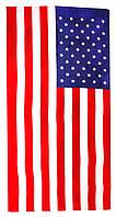 Пляжное полотенце Американский Флаг (велюр-махра) 70х140. Код 70140-86