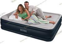 Надувная велюровая кровать с подголовником, усиленная 67736, фото 1