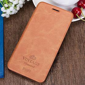 Чехол книжка для Huawei Honor V8 боковой, MOFI Vintage Classical, коричневый