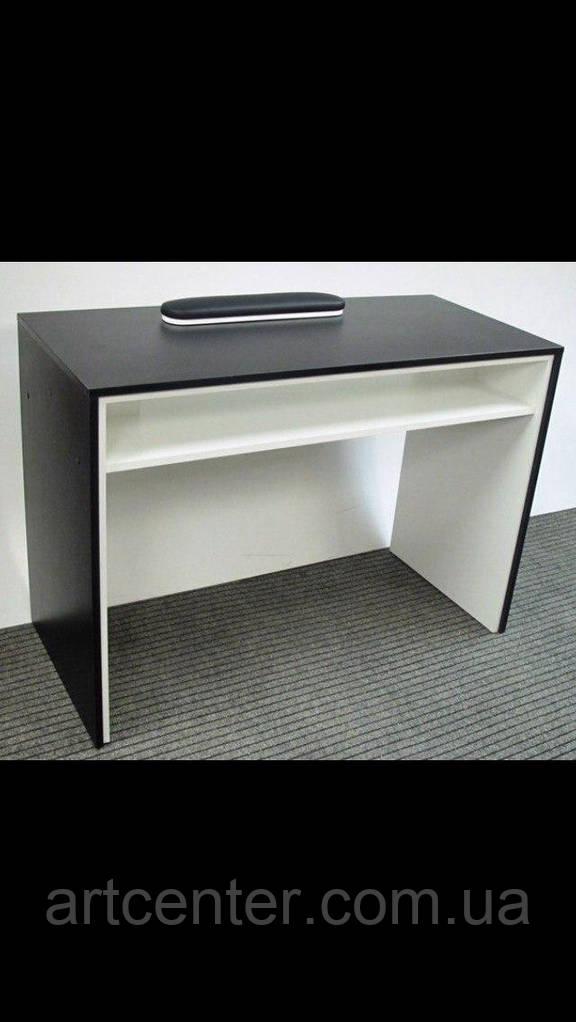 Стол офисный, письменный двух цветов черно-белый