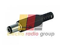 Γнездо 3,5 stereo пласт. п/кабель с пласт. пружиной