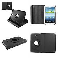 Кожаный чехол-книжка TTX (360 градусов) для Samsung Galaxy Tab 3 Lite 7.0 SM-T110 / T111 (Черный )