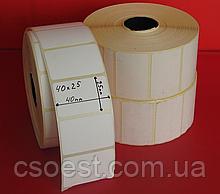 Термоэтикетка 40 x 25 мм ЭКО 2000шт