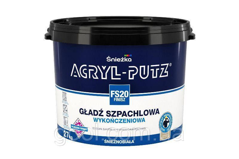 Шпаклевка финишная Снежка Акрил Путц ведро 27 кг