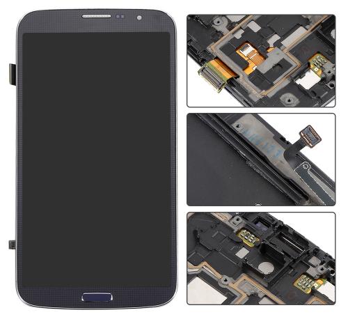 Дисплей (экраны) для Samsung i9200 Galaxy Mega 6.3/i9205 с сенсором (тачскрином) и рамкой синий Оригинал