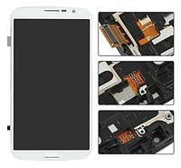 Дисплей (экраны) для Samsung i9200 Galaxy Mega 6.3/i9205 с сенсором (тачскрином) и рамкой белый Оригинал