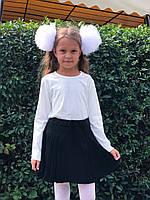 Школьная юбка плиссе  для девочки, чёрная, Польша.