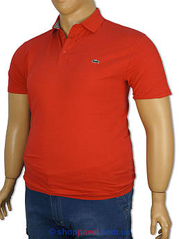 Красная мужская тенниска 1157 большого размера