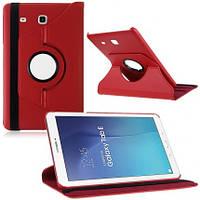 Кожаный чехол-книжка TTX (360 градусов) для Samsung Galaxy Tab E 9.6 SM-T560 (Красный)