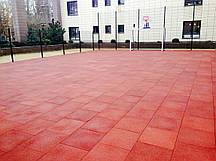 Резиновая плитка 500х500х30 красная