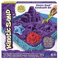 Набор песка для детского творчестваKINETIC SAND ЗАМОК ИЗ ПЕСКА фиолетовый 454г, формочки, лоток(71402P)