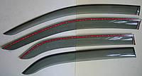 PEUGEOT 301 ветровики с молдингом нерж сталь