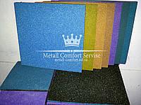 Резиновая плитка 500х500х30 голубая