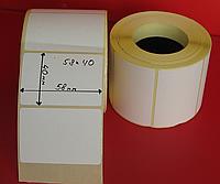 Термоэтикетка 58 x 40 мм ЭКО  650шт.