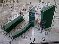 Скребки для бетономиксеров из полиуретана