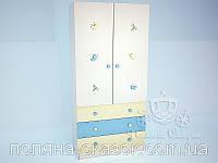 """Шкаф двухстворчатый 001 с декором """"Милые друзья"""". Ольха, ясень., фото 1"""