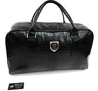 Стильная сумка-саквояж Philipp Plein D1968 черная
