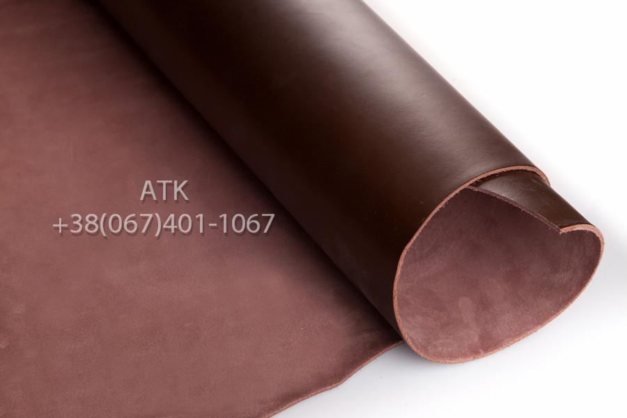Кожа ременная Lugano коричневая 3.6 мм