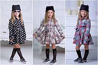 Теплое платье-рубашка для девочки №948 (р.110-140)