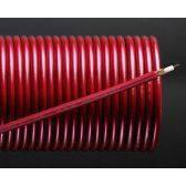 Кабель микрофонный 2жилы, Ø6мм, красный