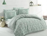 Качественное Двуспальное постельное белье Eponj Home PURE SU YESILI SV10