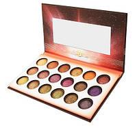 Палетка запеченных теней Solar Flare - 18 Color Baked Eyeshadow Palette BH Cosmetics Оригинал