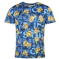 Мужская футболка с принтом Миньоны Minions размер S (футболки мужские, чоловіча футболка, одежда мужская)
