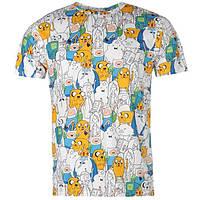 Мужская футболка с принтом Adventure Time размер L (футболки мужские, чоловіча футболка, одежда мужская)