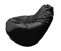 Кресло-мешок груша черная 120*90 см из ткани Оксфорд