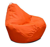 Оранжевое кресло-мешок груша 120*90 см из ткани Оксфорд