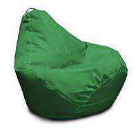 Зеленое кресло-мешок груша 120*90 см из ткани Оксфорд