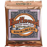 Струны Ernie Ball 2151 Earthwood Phosphor Bronze Rock n Blues 10-52