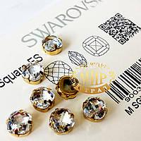 Сваровски в цапах (в оправе) цвет Crystal 8mm*1шт