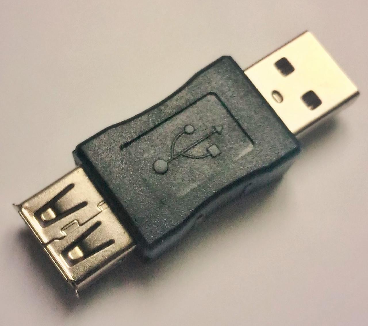 Переходник USB AM-AF папа-мама