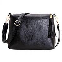Черная женская сумочка через плечо