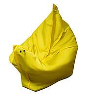 Желтое кресло мешок подушка 120*140 см из ткани Оксфорд, кресло-мат