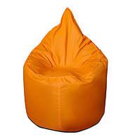 Оранжевое бескаркасное кресло мешок Капелька из ткани Оксфорд