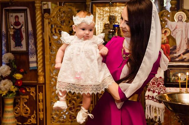 Крестильное платье для малышки -1