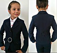 Подростковый школьный пиджак для девочки №447 (р.140-158)