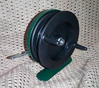 Катушка инерционная зеленая металл