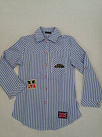 Рубашка-туника с длинным рукавом для девочки р.140.146.152