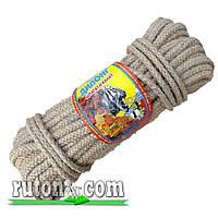 Канат джутовый плетеный шахтерский 8мм-20м-бухта-Украина