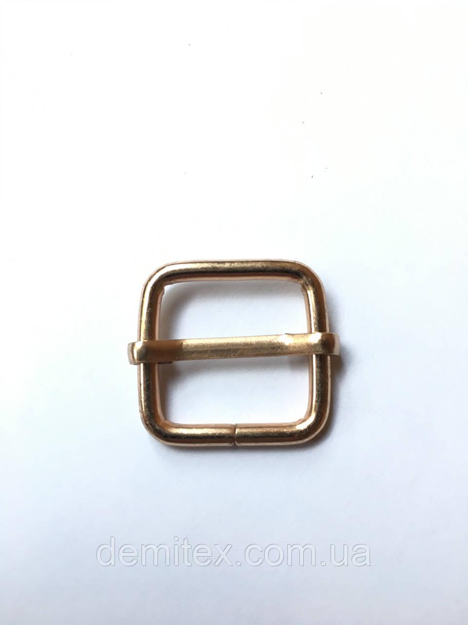 Рамка регулятор Перетяжка 20х20х3.5мм золото