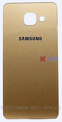 Задняя крышка Samsung A310 золотистая, фото 2