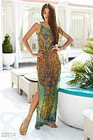 Аккуратное длинное платье.