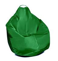 Зеленое кресло-мешок груша 100*75 см из ткани Оксфорд