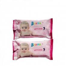 Салфетки влажные BRAVO детские с ароматом ромашки 15шт.